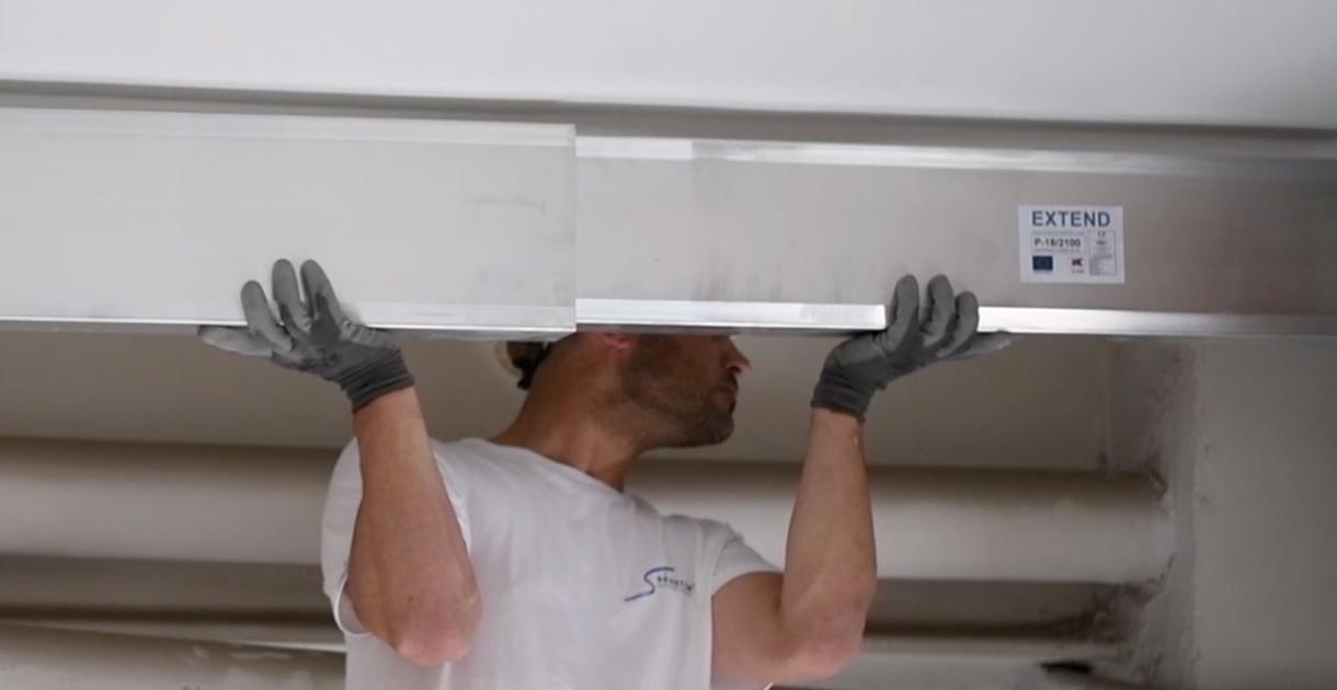 Vigas extensibles de aluminio de fácil instalación